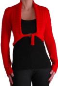 Chiara Cardigan Scoop Neck Buckle Knit Stretch Cardi One Size