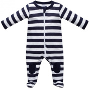Baby Boys Sleepsuit All in One Pyjamas With Feet 0-24 months Navy-Size