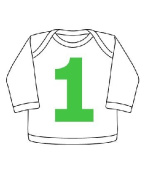 I AM 1 green first birthday t-shirt, 12-24 months 12-24 months
