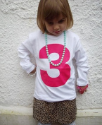 I AM 3 pink on white cute third birthday girls t-shirt, 3-4 years 3-4 years
