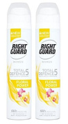 (2 PACK) Right Guard Women Total Defence 5 FLORAL POWER 48h Anti-Perspirant Deodorant x 250ml **Despatched within Double Wall Box**
