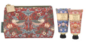 Morris & Co. Strawberry Thief Bath and Body Bag contains Shower Gel/Body Lotion 30 ml