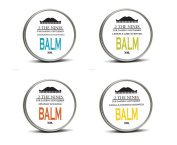 2 The Nines Premium Beard Balm 4 x 30ml Gift Multipack Set - 4 Scents