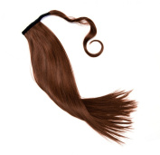 Hairpiece ponytail to clip on hair extension pony in the Colour mahogany NEW