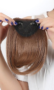 One Piece Straight 20cm Bang Clip in on Bangs Fringe Hair Extension Extensions Womens Ladies Girls Fashion Choice Black Blonde Brown