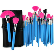 "32 pcs. Cosmetic Professional Makeup Brushes Set ""Glamour Blue"" incl. Case of the brand MyBeautyworld24"