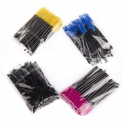 YINGMAN Disposable Eyelash Mascara Brushes/wands 400pcs/pack Rose,yellow,black and Blue Makeup Tools