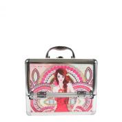Nicole Lee Priscilla 25cm Cosmetic Aluminium Case with Mirror, Marina, One Size