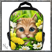 Rucksack/Schoolbag Summer Cat Design by Linda M. Jones