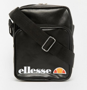 Ellesse Potenza Cross Shoulder/ Flight Bag - Black