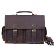 Kooertron Thick Genuine Men's Auth Real Leather Messenger Laptop Briefcase Satchel Bag