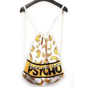 Zokey Men's Drawstring Gym Backpack Bag Canvas Banana Psycho