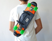 Shoulder bag for 60cm plastic skateboard, backpack, bum bag grey