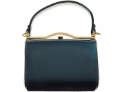 New Ladies shimmer blue mini handbag patent glossy evening shoulder bag handbag
