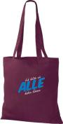 """Crocodile Fabric heirate I, the other is here only for Saufen """"Cotton Bags, Shopper bag, shoulder bag Various Colours"""