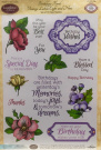 Clear Birthday Floral Vintage Labels Eight and Nine