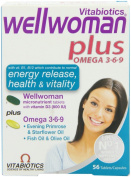 2 Packs Vitabiotics Wellwoman Plus - 56 Capsules. TOTAL 112 Capsules