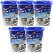 Astonish Pack Of 5 500G Oven Cookware All Purpose Kitchen Surface Powder Cleaner