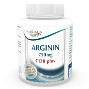 Arginine 750mg 120 capsules COR plus + Vit. B6 + B12 + Folic Acid + Black Pepper Extract 120 capsules Vita World German pharmacy production