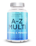Multivitamin A-Z Complex by Nutravita | 90 Tablets | Nutravita Comprehensive A-Z Multi Vitamins & Minerals (Vitality Range) | Over 20 essential Vitamins & Minerals | 100% Natural, Safe & The Highest Quality | Made In the UK to strict GMP Practises | Nu ..