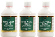 (3 PACK) - Natures Own - Aloe Vera Juice - Inner Leaf | 500ml | 3 PACK BUNDLE