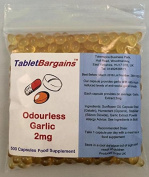 Tablet Bargains - Garlic (Odourless) 2mg - 500 Capsules