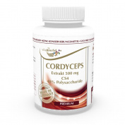 Cordyceps extract CS4 Premium 500mg 40% Polysaccharides 100 vegetarian Capsules Vita World German pharmacy production
