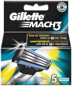 Gillette Mach3 Razor Blades - Pack of 5
