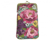 Peony Canvas Glasses Case by Gisela Graham