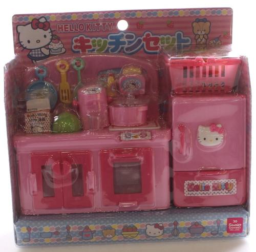 Hello Kitty Wooden Kitchen Set: Hello Kitty Miniature Toy Kitchen Set From Japan. Free