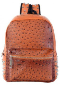 HAUTE FOR DIVA'S WOMENS CLASSIC FAUX LEATHER ANIMAL PRINT STUDDED BACKPACK BACK TO SCHOOL COLLEGE BAG