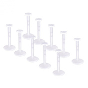 Pack of 10 Clear Bio Flexible Push Fit Lip Labret Retainers 16G