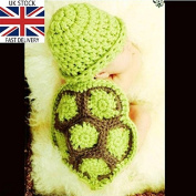 Turtle, Newborn Baby Girl/Boy Crochet Knit Costume Photo Photography Prop Hats Outfits