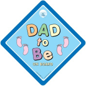 Dad To Be Car Sign, Blue Feet, Dad to be, dad to Be Sign, Baby On Board Sign, baby on Board, New Dad, New daddy, Bumper Sticker, Baby Sign, Dad-to-be Sign