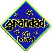 FUNKY GRANDAD Baby on Board Car Window Sign