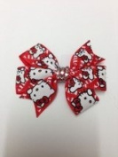 Rumy's Boutique new crystallised 7.6cm hello kitty ribbon bow clip girls hair accessories