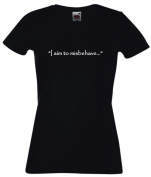 T-Shirt Woman V-Neck - I Aim To Misbehave Quote Firefly