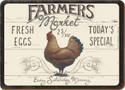 Creative Tops Farmers Market Traditional Table Mats Cork Backed Placemats, Set of 6, Multi-Colour