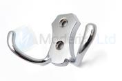Double Coat Hanger Hook Door Wall Bath - BK24 Chrome