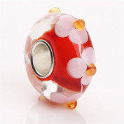 HYBEADS One Per 925 Silver Lampwork Murano Glass European Beads - Compatible With Most European Style Charm Bracelets.