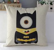 46cm Square the Minion Super Hero Decorative Cover Cushions Home Decor Sofa Throw Pillows