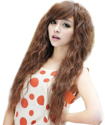 NuoYa001 New Womens Fashion Sexy long Full Curly Wavy Hair Wigs Cosplay Party Light Brown