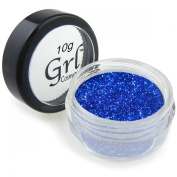 Grl Cosmetics Cosmetic Glitter Makeup for Face, Eyes, Lips, Nails and Body - GL32 Blue Pzazz, 10 Gramme Jar