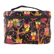 YESURPRISE Ladies Women Owl Cosmetic Makeup Bag Case Travel Toiletry Wash Hand Beauty Storage Bag Black