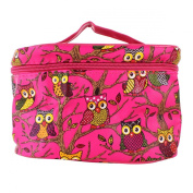 YESURPRISE Ladies Women Owl Cosmetic Makeup Bag Case Travel Toiletry Wash Hand Beauty Storage Bag Rose