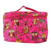 YESURPRISE Ladies Women Owl Cosmetic Makeup Bag Case Travel Toiletry Wash Hand Beauty Storage Bag Rose