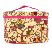YESURPRISE Ladies Women Owl Cosmetic Makeup Bag Case Travel Toiletry Wash Hand Beauty Storage Bag Yellow
