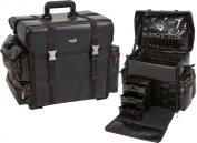 Seya Beauty Soft-sided Nylon, Carry on Professional Makeup Case w/ Removable Drawers and Brush Holder