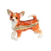 Welforth Large Chihuahua Trinket Box Model No J-378