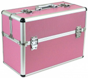 Pro Medium Aluminium Make Up Artist Cosmetic Travel Hard Case Studio Pink